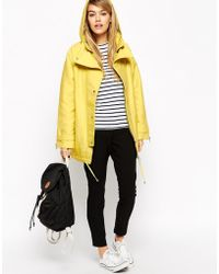 Asos Parka In Cocoon Fit With Contrast Liner - Lyst