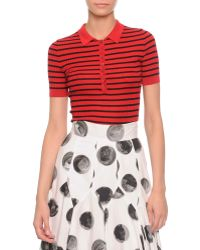 Dolce & Gabbana Striped Ribbed Polo Shirt - Lyst