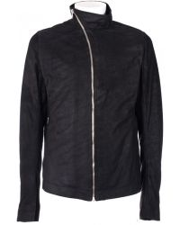 "Rick Owens Black Leather ""Mollino"" Jacket black - Lyst"