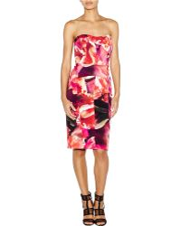 Nicole Miller Strapless Panel Dress - Lyst