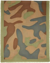 Burberry Prorsum - Green Camouflage Scarf - Lyst