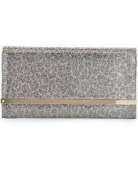 Jimmy Choo Maia Large Leopard-print Glitter Clutch Bag - Lyst