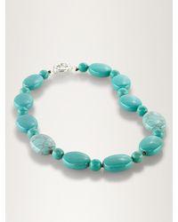 Lauren by Ralph Lauren Turquoise Beaded Necklace - Lyst