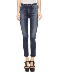 Citizens Of Humanity Carlie High Rise Cropped Jeans - Harvest Moon - Lyst
