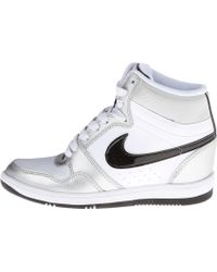 nike fast love sky high wedge sneakers in white