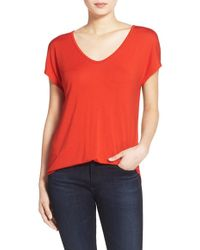 Trouvé | Relaxed Fit Shirttail Tee | Lyst