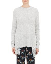 Thakoon Addition - Self-fringed Oversized Jumper - Lyst