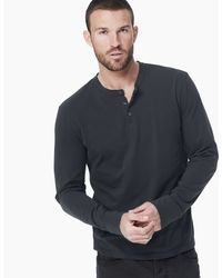 James Perse Sueded Jersey Henley - Lyst