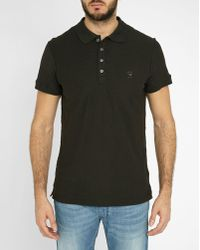 DIESEL | Black T-hira Logo Slim-fit Short-sleeved Polo Shirt | Lyst