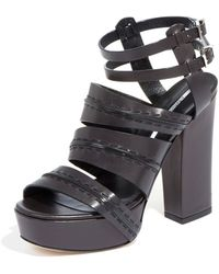 Camilla Skovgaard Leather Platform Strappy Sandals - Lyst
