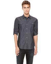 DKNY Jeans Military Shirt - Lyst