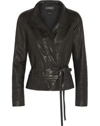 Isabel Marant Barney Leather Wrap Jacket - Lyst