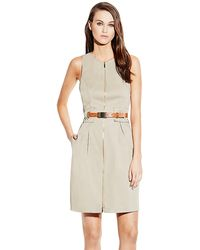 Vince Camuto Belted Shift Dress - Lyst