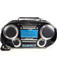 Moschino Boombox Patent & Metallic Leather Crossbody Bag - Lyst