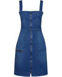 Stella McCartney Denim Utility Dress - Lyst
