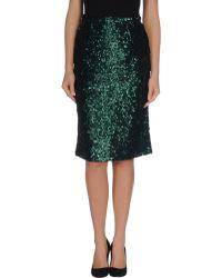 Burberry Prorsum Knee Length Skirt green - Lyst