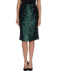 Burberry Prorsum Knee Length Skirt - Lyst