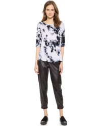Enza Costa Ionic Wash Dolman Top - Cement Ionic - Lyst