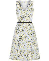 Carolina Herrera Daisy Pigment Wrap Dress - Lyst