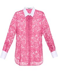 Valentino Bi-Colour Lace Shirt - Lyst
