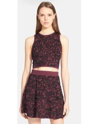 Opening Ceremony 'Cabbage' Jacquard Knit Crop Tank multicolor - Lyst