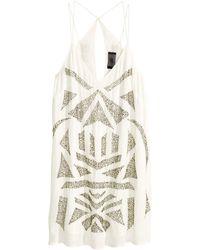H&M Beaded Dress - Lyst