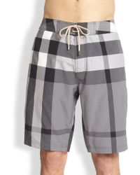 Burberry Brit Laguna Check Swim Trunks - Lyst