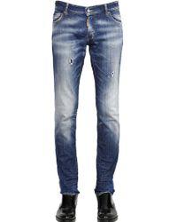 DSquared² 18Cm Slim Fit Taxi Wash Denim Jeans - Lyst