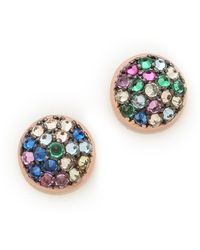 Katie Rowland - Java Mini Stud Earrings Multi - Lyst