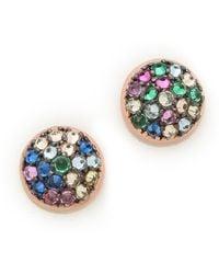Katie Rowland | Java Mini Stud Earrings Multi | Lyst
