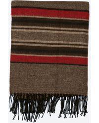 Zara Double Woven Striped Scarf - Lyst
