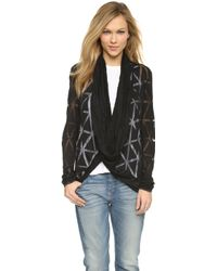 Apres Ramy Brook - Lenny Open Front Cardigan - Cloud - Lyst