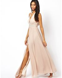 Asos Maxi Dress with Embellished Waist - Lyst