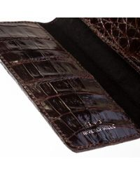 Anne Sisteron - Crocodile Check Holder/wallet - Lyst