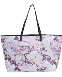 Asos Marble Print Shopper Bag with Skinny Handles - Lyst