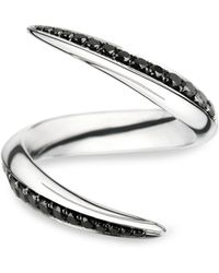 Shaun Leane - White Gold and Black Diamond Aerial Crossover Ring - Lyst
