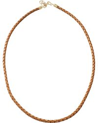 Pamela Huizenga - Braided Leather Necklace - Lyst