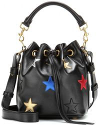 Saint Laurent - Emmanuelle Small Embellished Leather Bucket Bag - Lyst