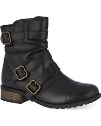 Ugg Finney Buckled Ankle Boots - Lyst