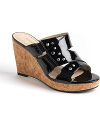Adrienne Vittadini - Corral Cork Wedge Sandals - Lyst