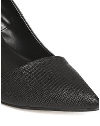 Aldo Black High Heeled Pointed Court Shoes - Lyst