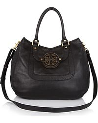 Tory Burch Amanda Pebbled Leather Hobo - Lyst