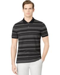 Calvin Klein Jersey Engineered Stripe Polo Shirt - Lyst
