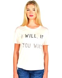 Zoe Karssen | I Will, If You Will Tee In Cloud Pink | Lyst
