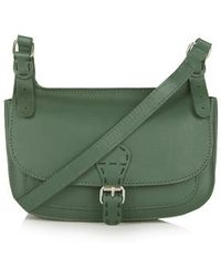 Topshop '70S Leather Satchel green - Lyst