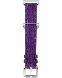 Fendi Teju Purple Leather Watch Strap 18mm - Lyst