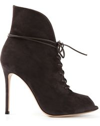 Gianvito Rossi Jane Laceup Boots - Lyst