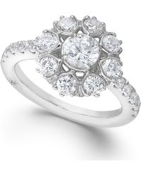 Marchesa Certified Diamond Snowflake Ring in 18k White Gold 1-58 Ct Tw - Lyst