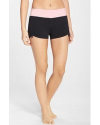 Zella 'Studio Zen' Side Ruched Yoga Shorts - Lyst
