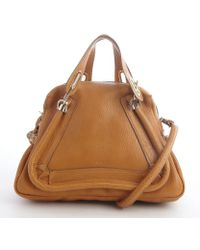 Chloé Brown Leather Paraty Convertible Top Handle Satchel - Lyst